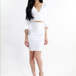 Dresses & Skirts - Ivanna White Bandage Skirt